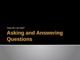Asking and Answering Questions Power Point