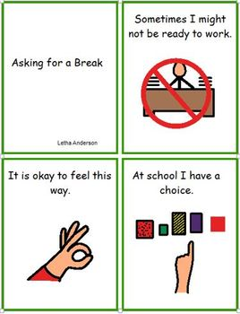 Asking for a Break Social Story Autism