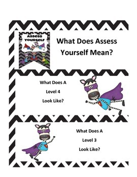 Assess Yourself Interactive Notebook Pages