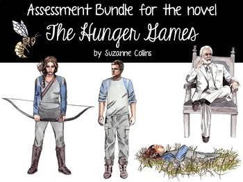 Assessment Bundle for the novel The Hunger Games by Suzann