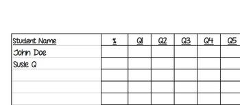 Assessment Response Tracking Form