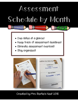 Assessment Schedule by Month