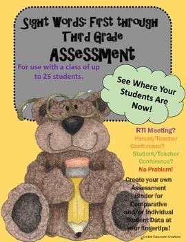 Assessment: Sight Words - First through Third Grade