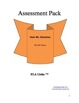 Assessment for Dear Mr. Henshaw by Beverly Cleary