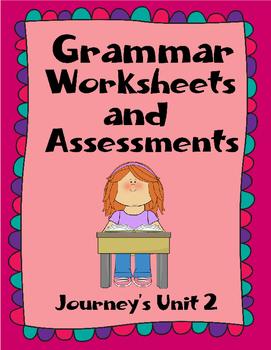 Assessments and Quizzes for Grammar - Journeys Unit 2