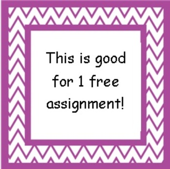 Assignment Free Card
