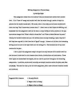 Process (How-To) Essay Bundle in Word--Great for Writing W