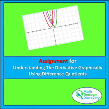 Assignment-Understanding the Derivative Graphically Using