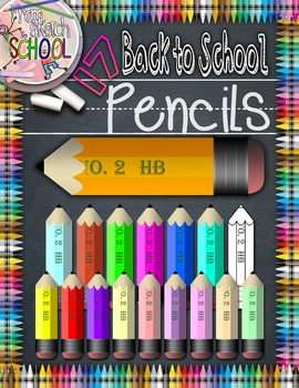 Assorted Back to School Pencils {From Sketch to School}