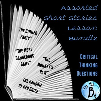 Assorted Short Stories Lesson Bundle for Critical Thinking