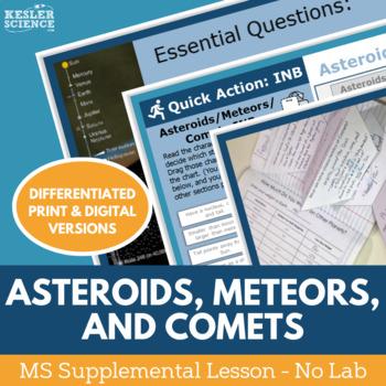 Asteroids Meteors Comets - Supplemental Lesson - No Lab