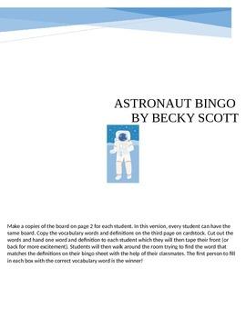 Astronaut Bingo