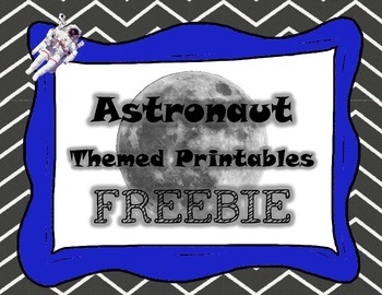 Astronaut Themed Printables FREEBIE - graphing, QR codes,