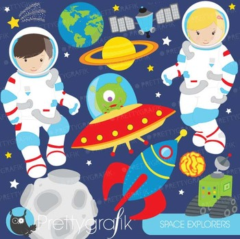 Astronaut in space clipart commercial use, vector graphics
