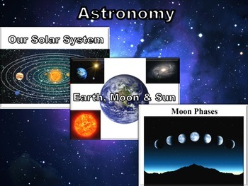 Astronomy: 3 Lesson Combo Pack-classroom unit, study guide
