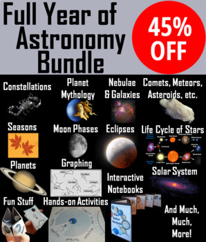 Astronomy/ Space Science Activities and PowerPoints Bundle
