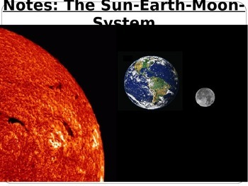 "Astronomy Lecture Notes: ""The Sun, Earth, Moon System"""