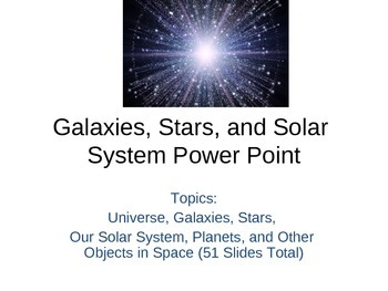 Galaxies, Stars, and Solar System PowerPoint (Bundled)