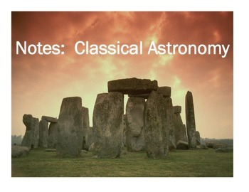 Astronomy Unit Bundle - Classical Astronomy Unit