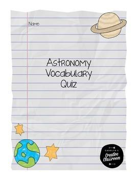 Astronomy Vocabulary Quiz