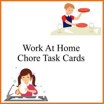 At Home Chore Task Cards