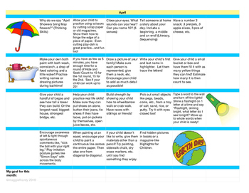 At Home Learning Activities Calendar - April