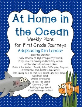 At Home in the Ocean Journeys Lesson Plans and Supplementa