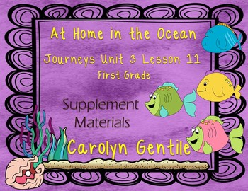 At Home in the Ocean Journeys Unit 3 Lesson 11 First Grade