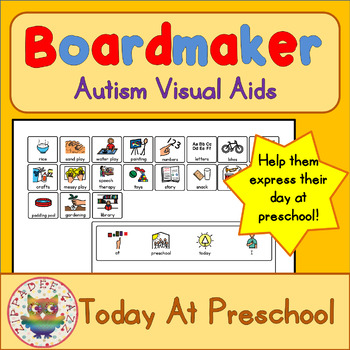 At Preschool Today I...Board and Cards - Boardmaker / Auti