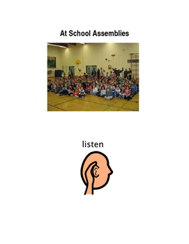 At School Assemblies Social Story