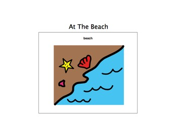 At The Beach Unit-Adaptive Book and more (Autism/Early Lan