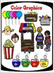 At The Carnival Clipart  (10 FREE Elements Included) Embel