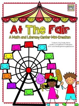 At The Fair!  A Math And Literacy Center Mini Creation!