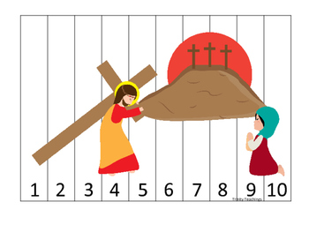 At the Cross 1-10 Sequence Puzzle preschool Bible curricul