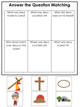 At the Cross Answer the Question preschool Bible curriculu