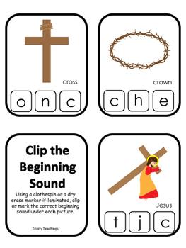 At the Cross Beginning Sounds Clip It preschool Bible curr