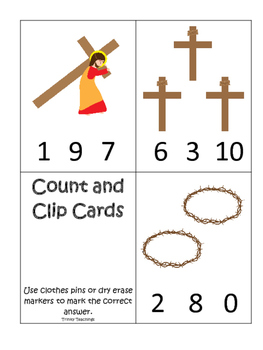 At the Cross Count and Clip preschool Bible curriculum gam