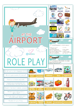 At the airport Role Play Pack