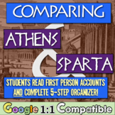 Compare Athens & Sparta! Student's read first-person accou
