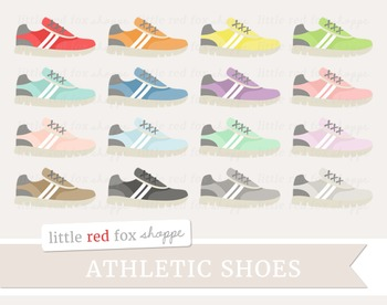 Athletic Running Shoe Clipart