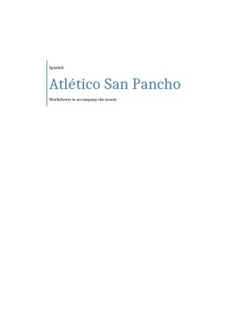 Atlético San Pancho movie worksheet