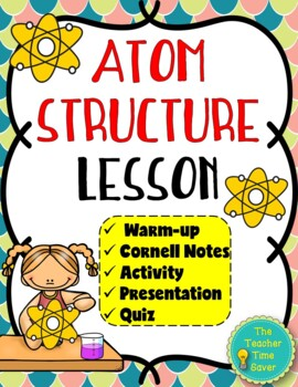 Atom Structure Lesson (PowerPoint, notes, and activity)