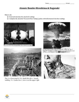 Atomic Bombs Lesson & Worksheet