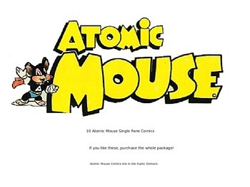 Atomic Mouse Comic {Fill-in-the-Speech-Bubble} Samples