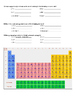 Atomic Structure and Periodic Table Worksheet