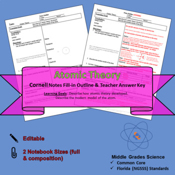 Atomic Theory Cornell Notes #36