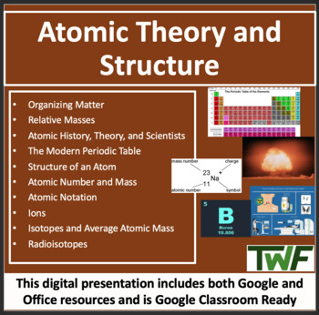 Atomic Theory and Structure Overview - A Chemistry PowerPo