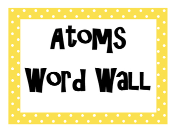 Atoms Word Wall