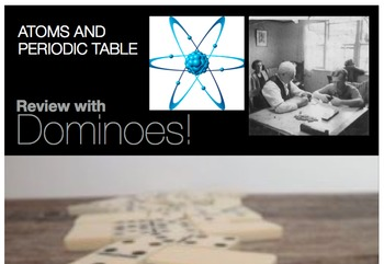 Atoms periodic table dominoes game test review vocab words