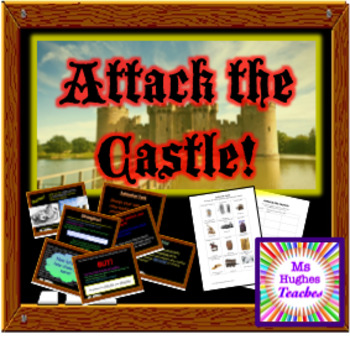 Attack a castle in the Middle Ages powerpoint and workshee